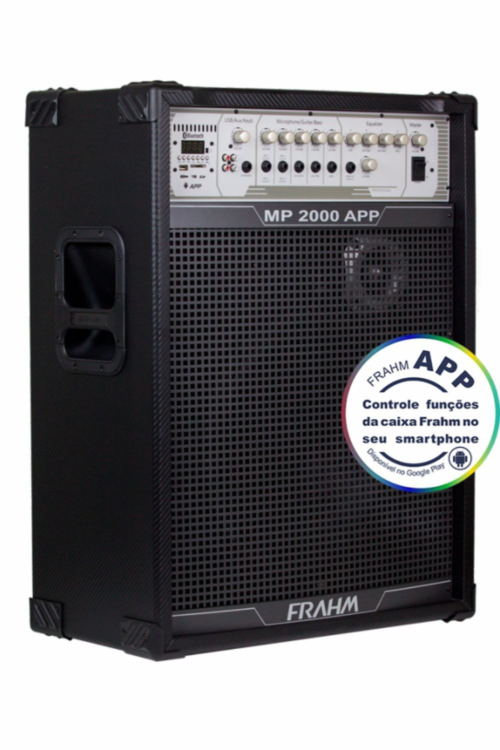 Caixa Frahm MP 2000 APP Multiuso 200W RMS FM SD USB Bluetooth