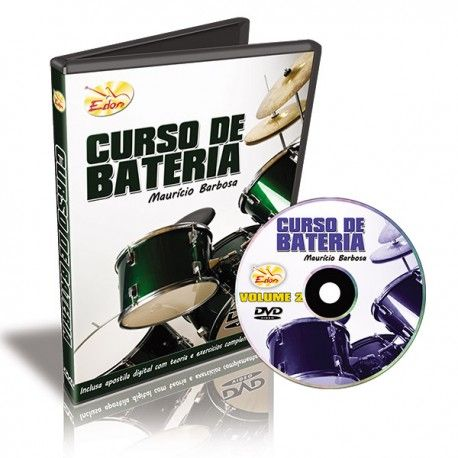 Dvd Video Aula Curso De Bateria Vol 2 Mauricio Barbosa