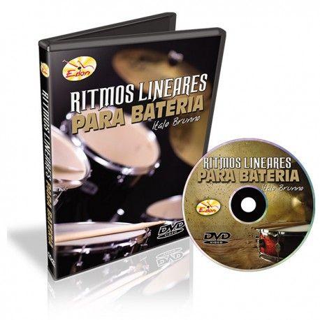 Dvd Video Aula Curso De Ritmos Lineares Para Bateria