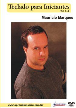Dvd Vídeo Aula Teclado Para Iniciantes Vol 1/2 Mauricio Marques