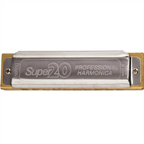 Gaita De Boca Harmônica Hering Diatônica 8020 Super 20 F Fá