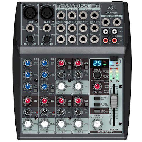 Mesa de Som  analógica 10 Canais Behringer Xenyx 1002 FX