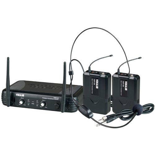 Microfone Sem Fio Vokal VWR-25 Cabeça + Instrumento UHF
