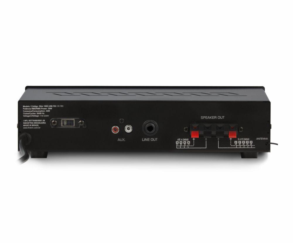 Receiver Frahm Slim 1000 USB FM 30W RMS