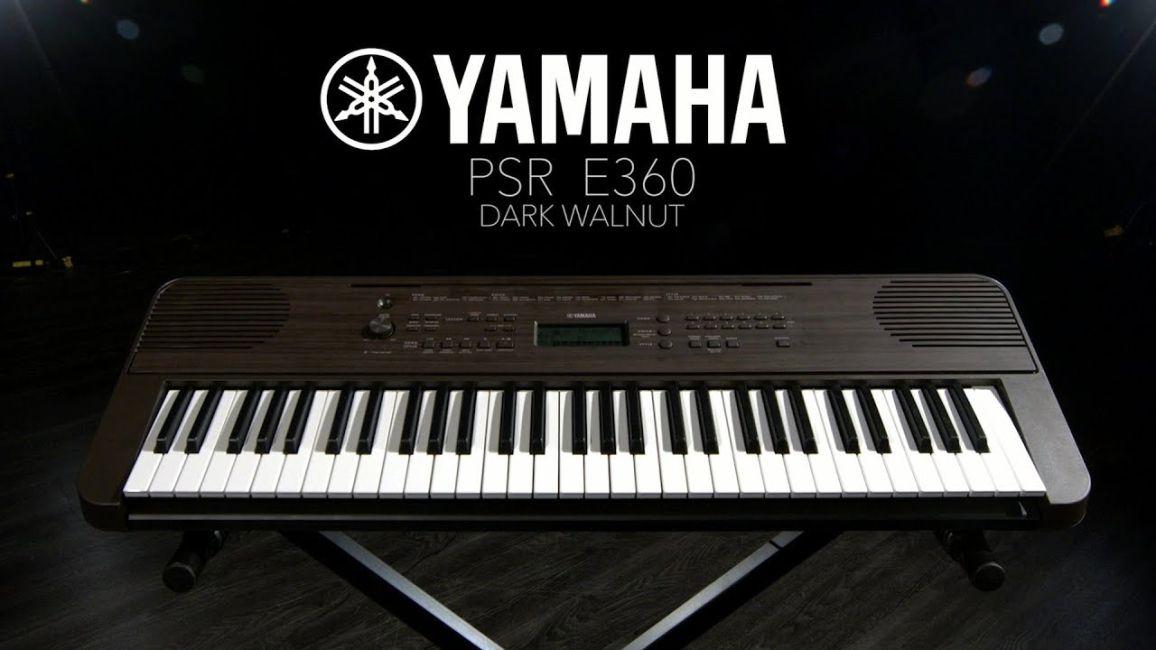 Teclado PSR-E360 Dark Walnut YAMAHA