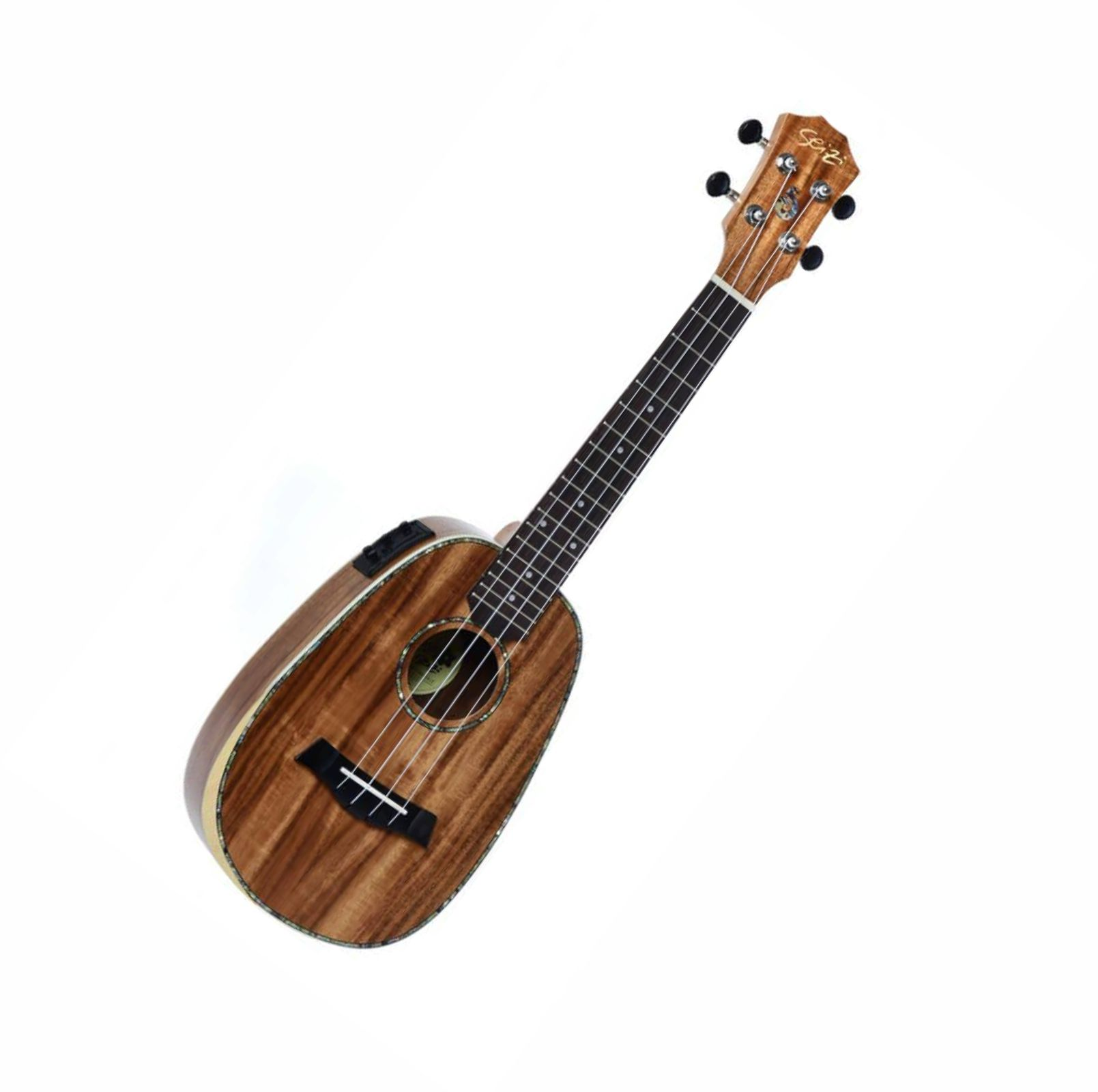 Ukulele Seizi Bora-Bora Plus – Pineapple Concert Elétrico Bag – Koa