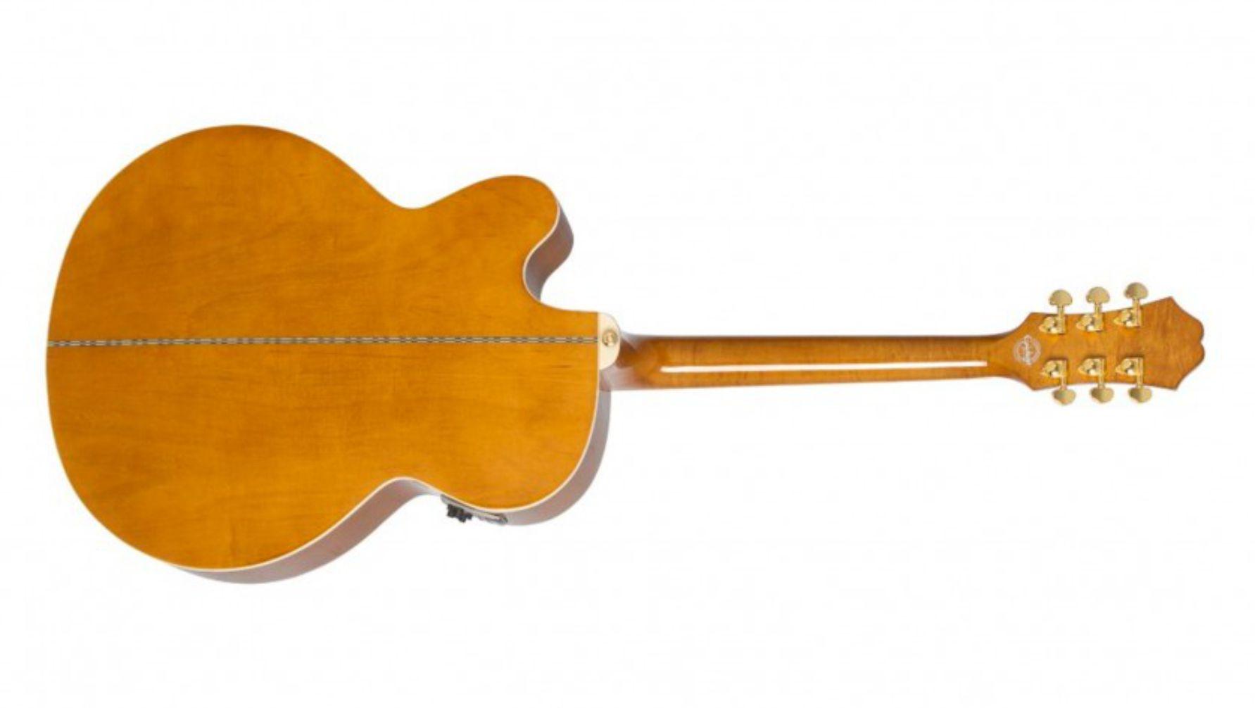 Violão Elétrico Epiphone Gold Solid Top Ej-200 Sce Vn - Vintage Natural