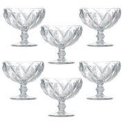 Jogo de Taças de Sobremesa Diamante Transparente