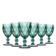 Jogo de Taças de Água Diamante Azul Tiffany