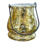 Porta-Velas Decorativo Dourado