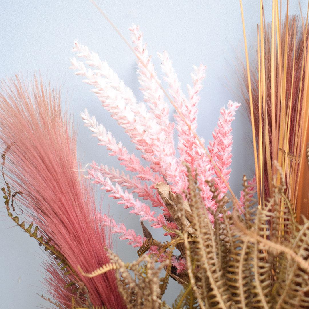Arranjo de Flores Secas no Vaso Trouxinha Rosa | Formosinha
