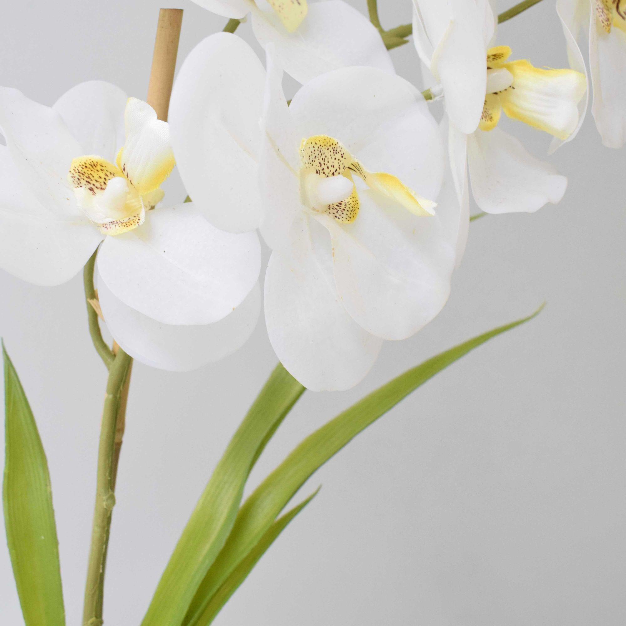 Flores artificiais Arranjo de Flores Orquídea de Silicone no Vaso de Sisal|Linha permanente Formosinha
