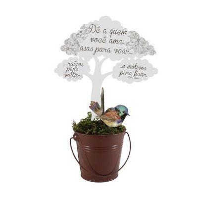 Árvore com Passarinho Decorativa