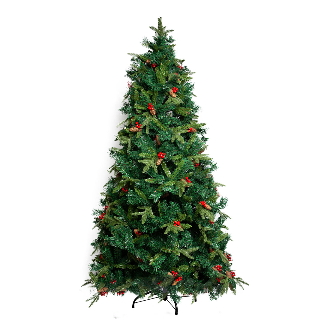 Árvore de Natal com Berry e Pinha 150 cm Luxo |Natal Formosinha