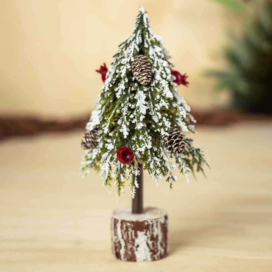 Árvore de Natal Decorada Nevada 22cm | Formosinha