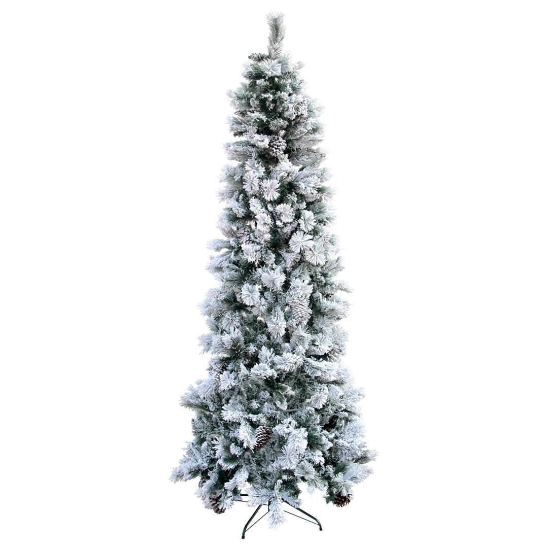 Árvore de Natal Slim Nevada 180cm - 528 Galhos | Natal Formosinha