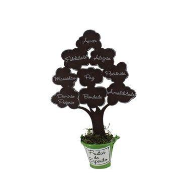 Árvore Frutos do Espírito Marrom Pequena