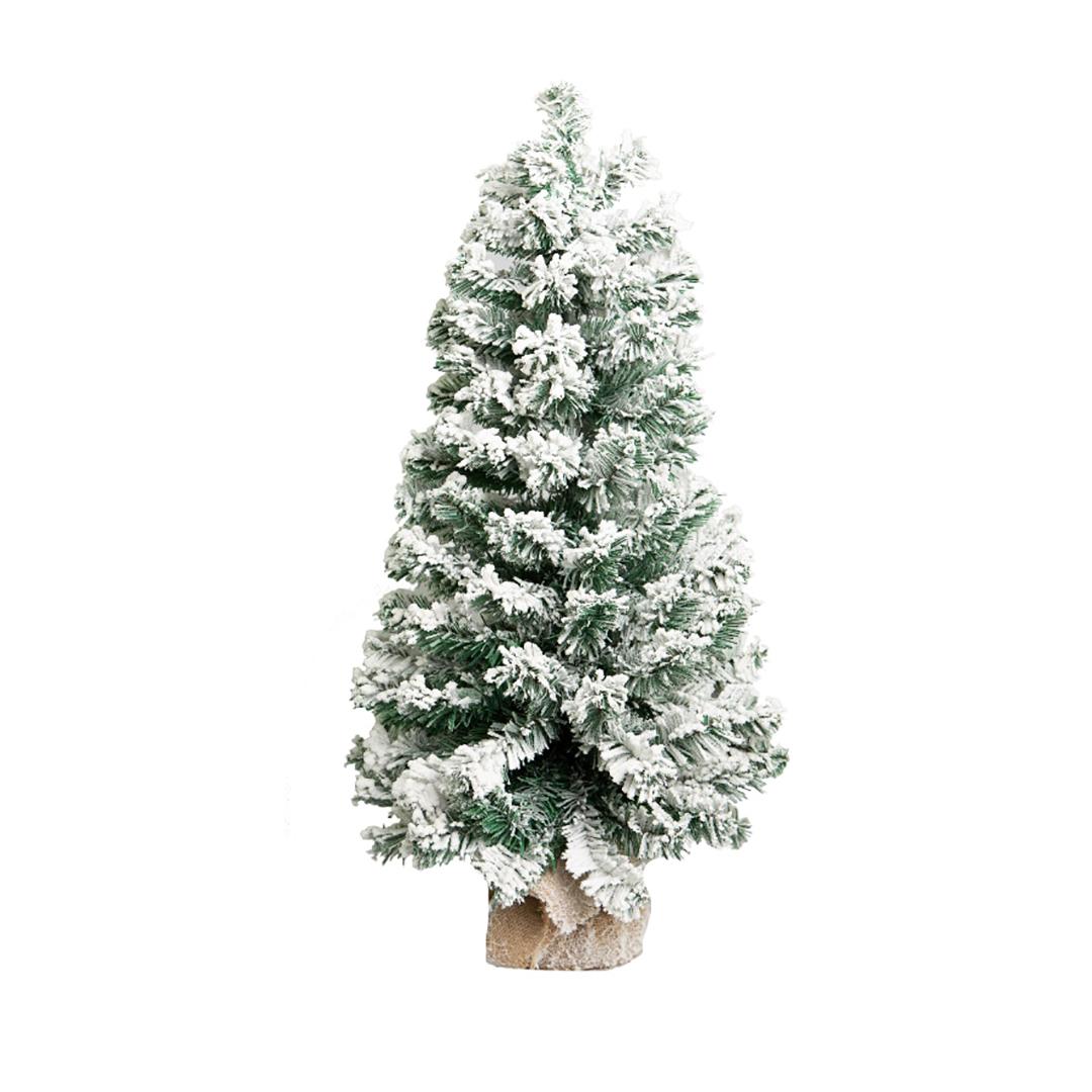 Árvore Nevada na Base de Juta com 70 cm | Natal Formosinha
