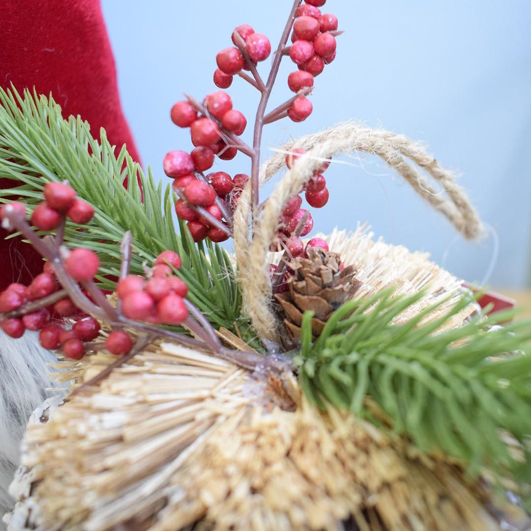 Bola de Natal Pinha Decorativa Grande 16cm | Linha Natal Encantado
