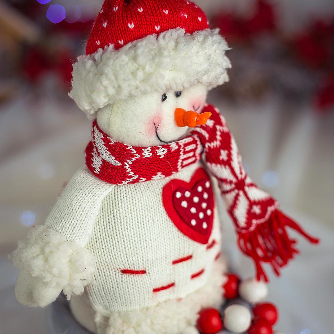 Boneco de Neve Com Pernas de Miçangas 27cm | Natal Formosinha