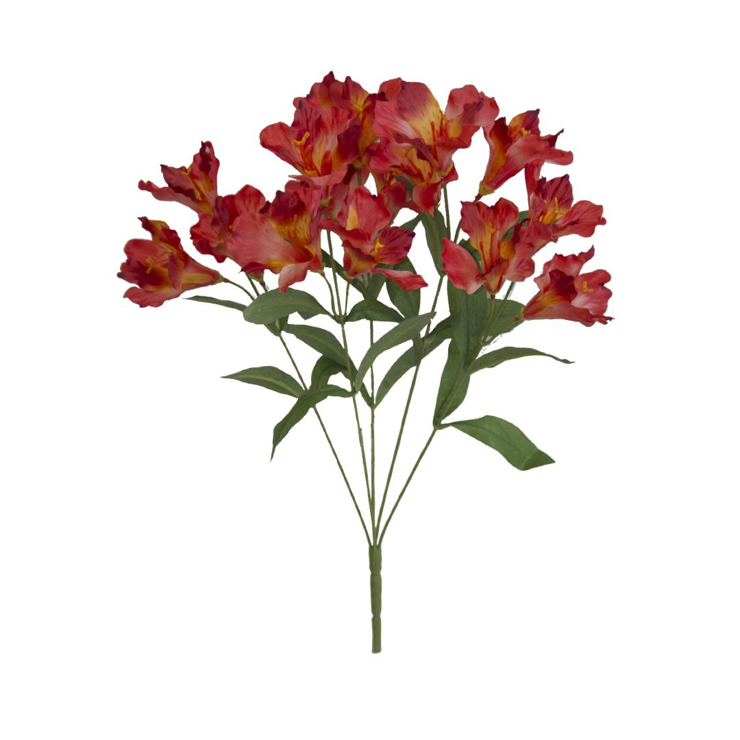 Flores artificiais Buquê Artificial de Astromélia Vermelho|Linha permanente Formosinha