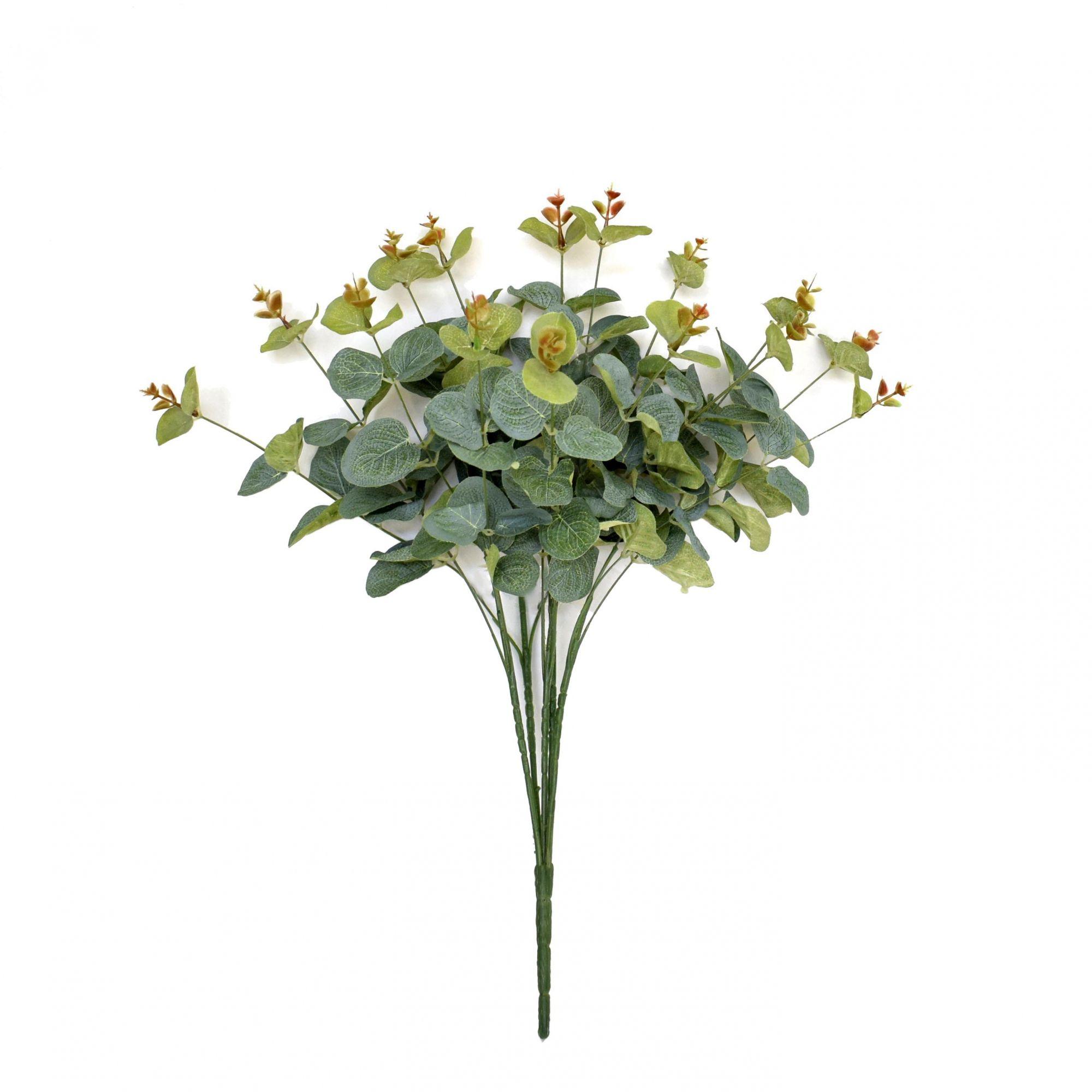 Buquê de Eucalipto artificial com 150 folhas