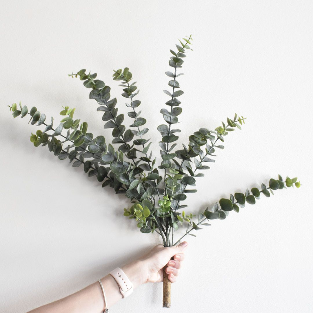 Buquê de Flores Eucalipto de Silicone Artificial | Linha Permanente Formosinha