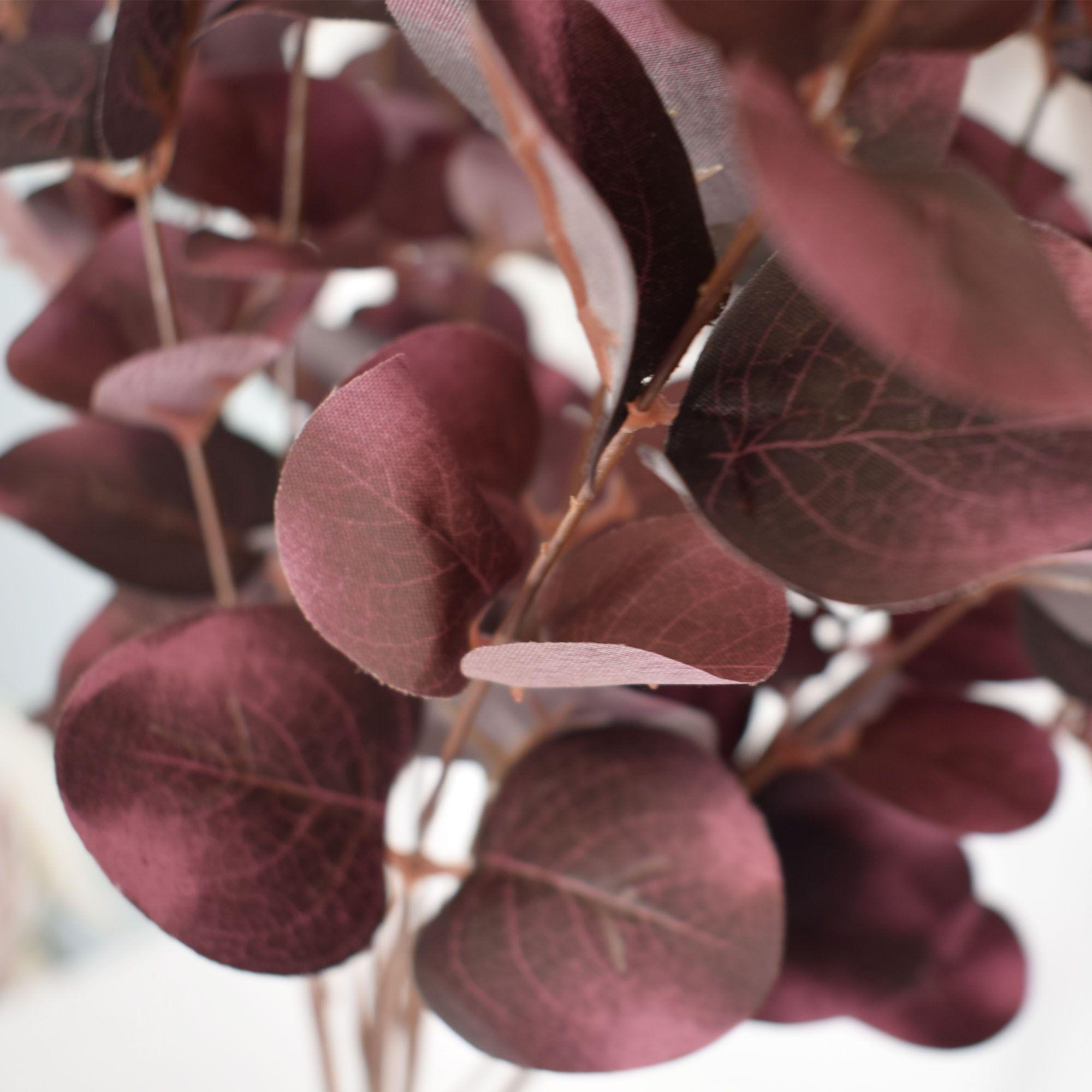 Flores artificiais Buquê de Eucalipto Outonado|Linha permanente Formosinha