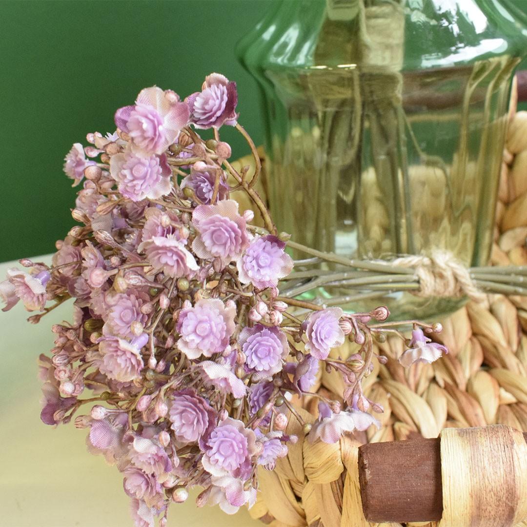 Buquê De Flores Artificiais de Gypsophila Lavanda | Linha Permanente Formosinha