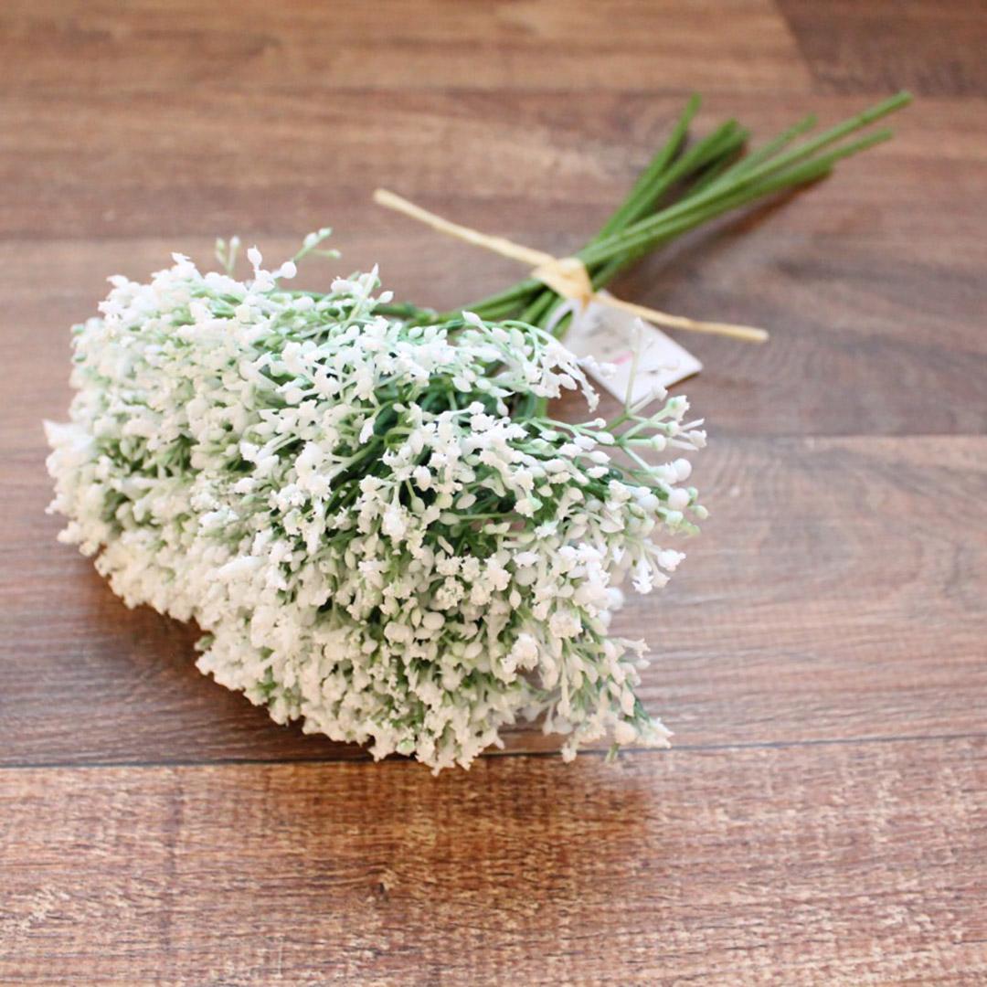 Buquê De Flores Artificiais de Mosquitinho Branco| Linha Permanente Formosinha