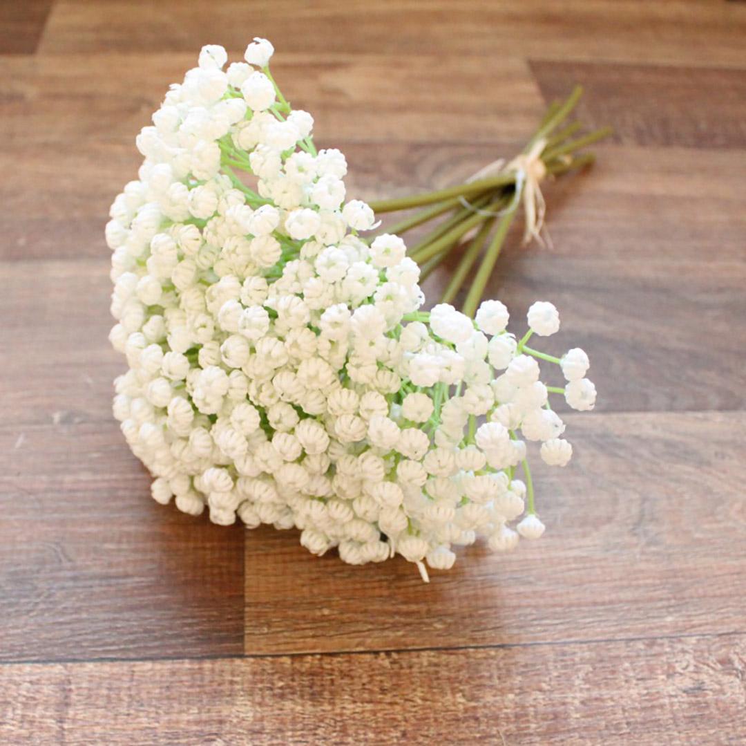 Buquê De Flores Artificiais de Mosquitinho Off White| Linha Permanente Formosinha