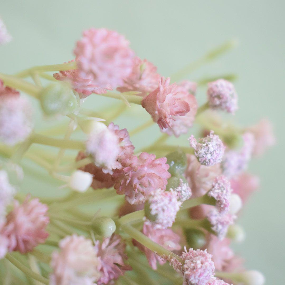 Buquê de Flores artificial de Mosquitinho Rosa | Linha Permanente Formosinha