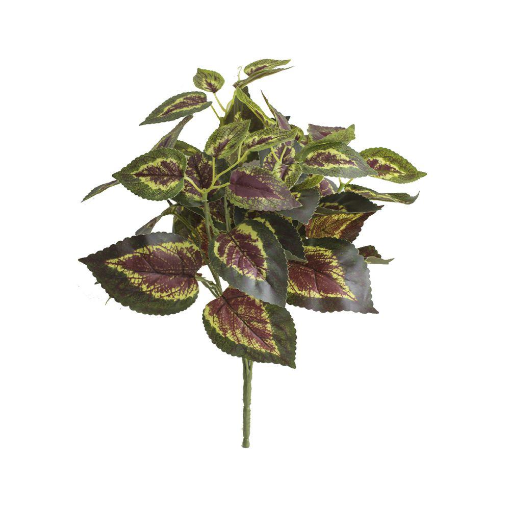 Flores Artificiais Buquê de Folhagem Artificial Caladium Toque Real | Linha Permanente Formosinha