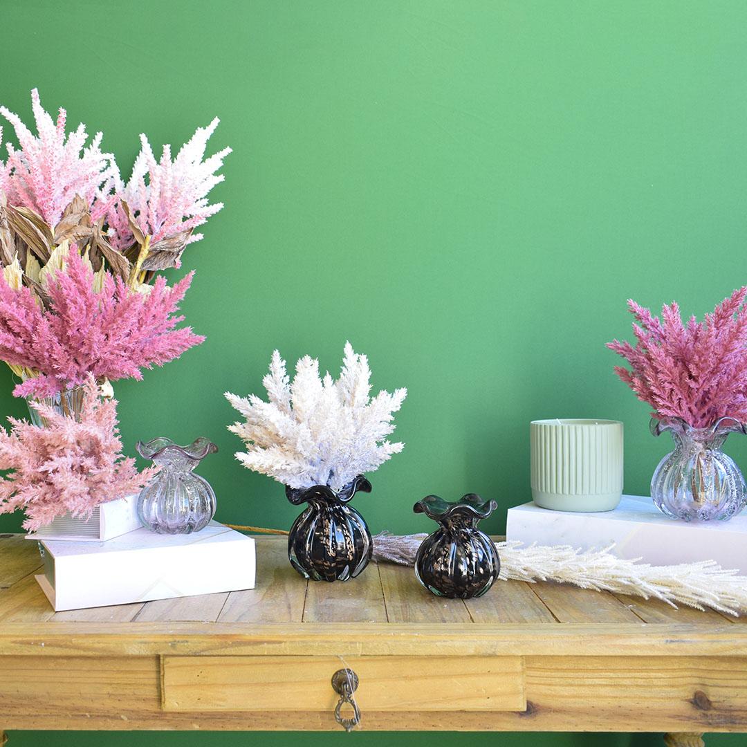 Buquê de Folhagem Envelhecida Artificial Pink