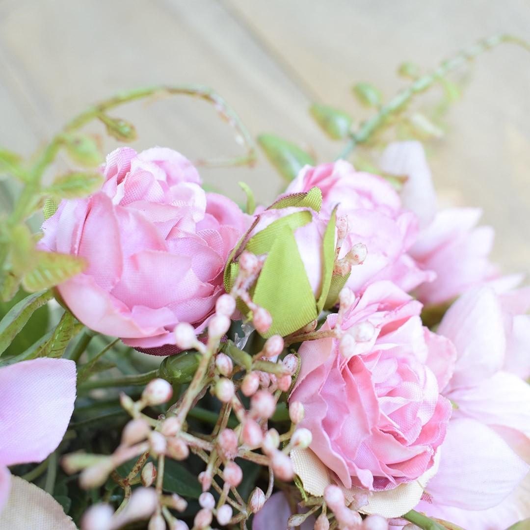 Buquê de Rosas Artificiais Cor-de-Rosa | Linha permanente Formosinha