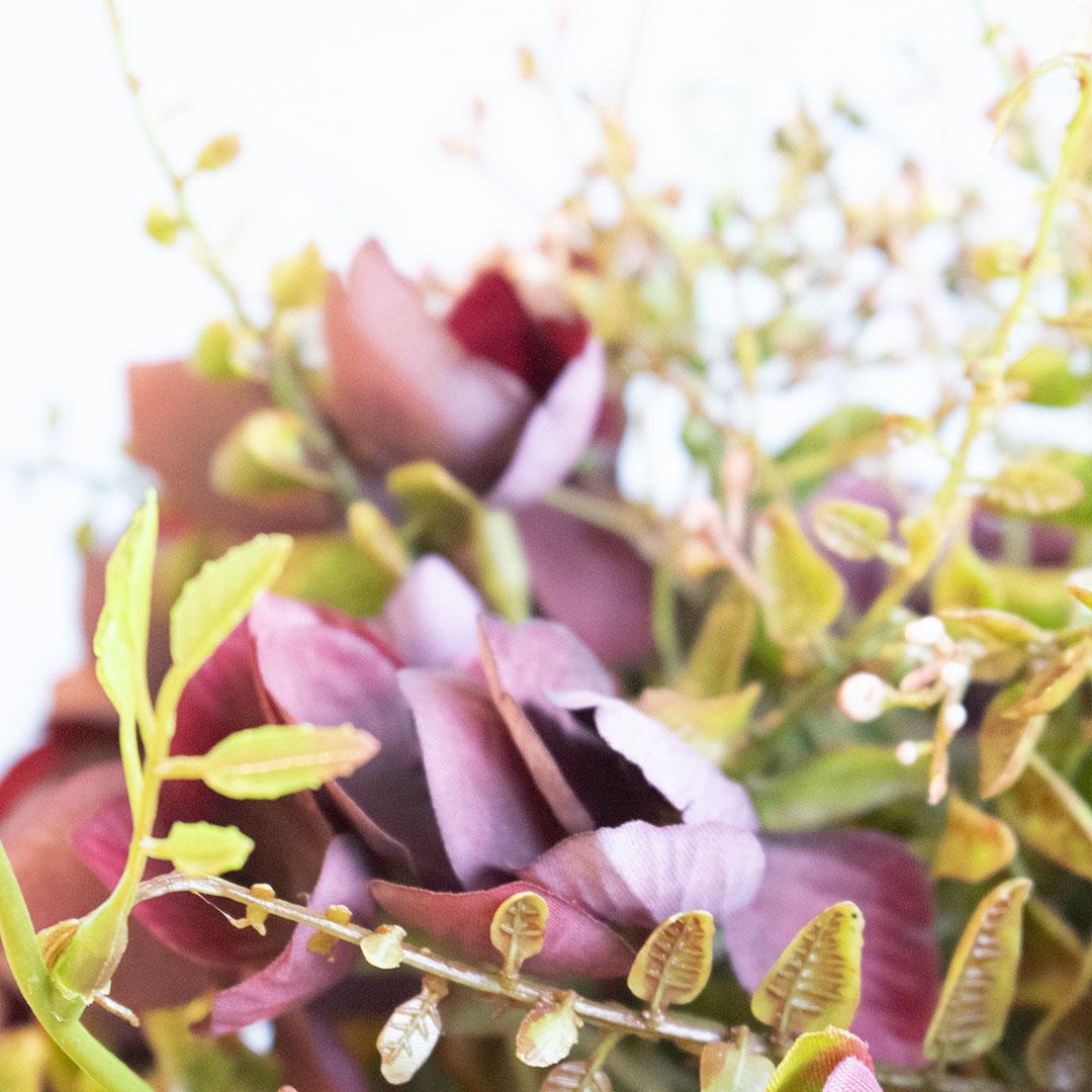 Buquê de Rosas Artificiais Marsala   Linha permanente Formosinha