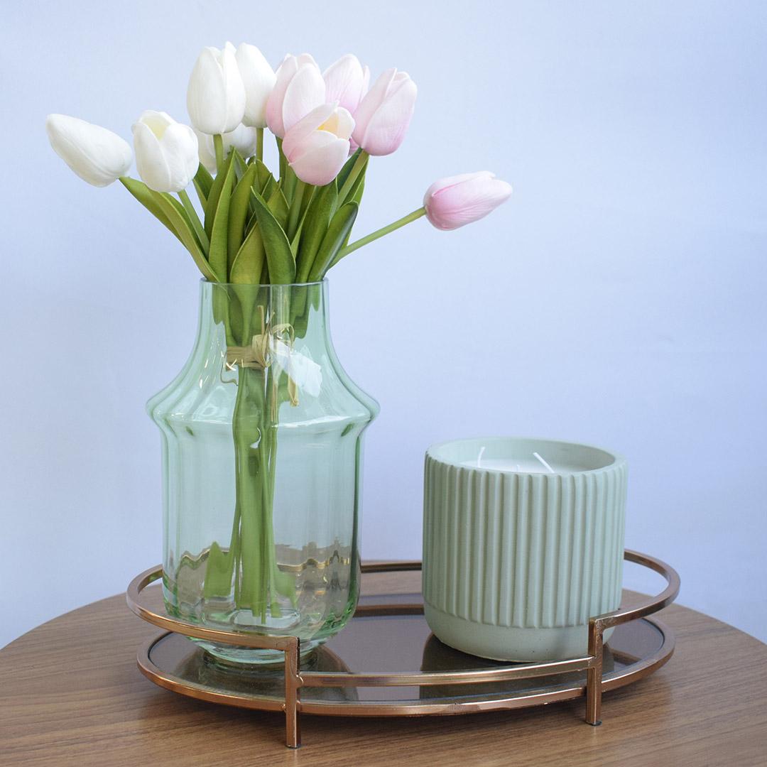 Buquê de Tulipa Artificial Rosa | Formosinha