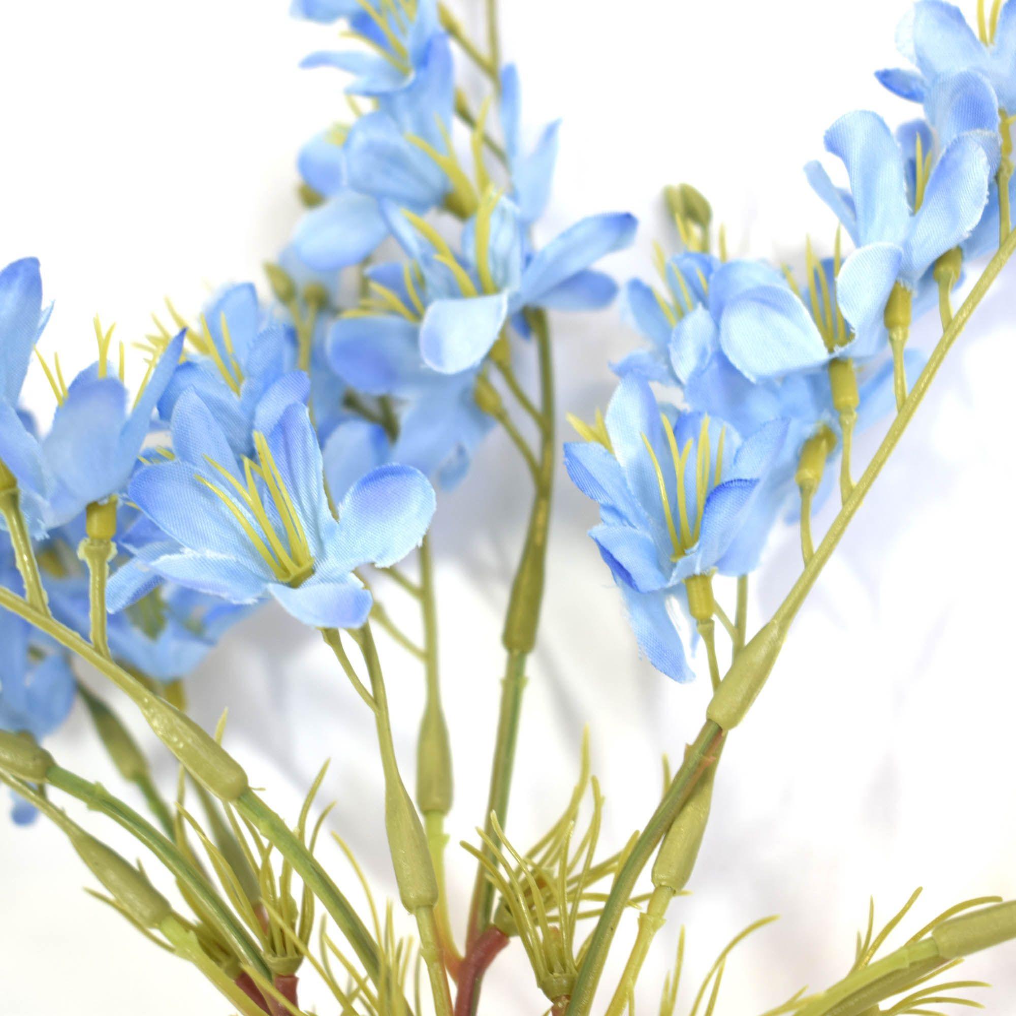 Flores artificiais Buquê Flor-do-Campo Artificial Azul|Linha permanente Formosinha
