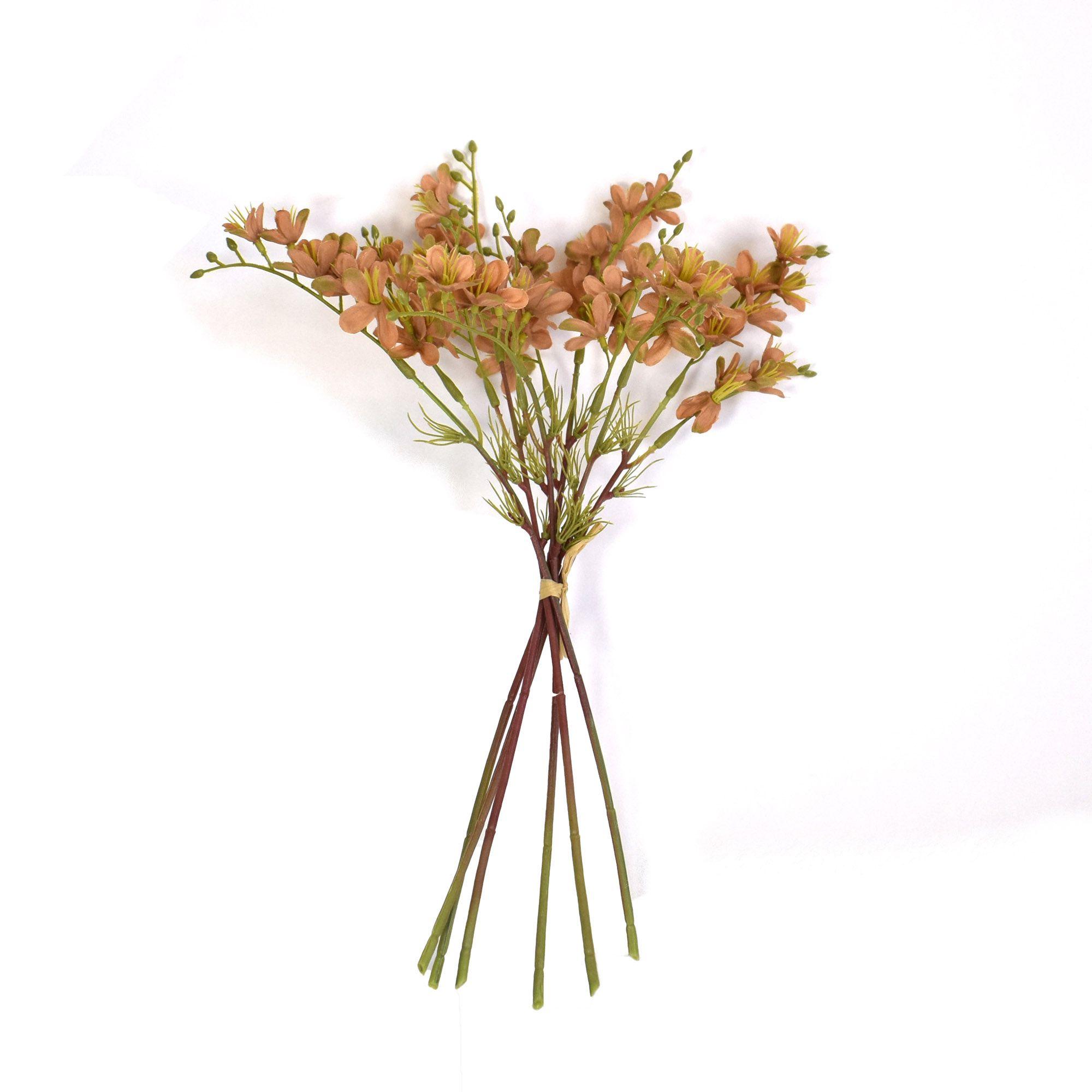 Flores artificiais Buquê Flor-do-Campo Artificial Envelhecida Marrom|Linha permanente Formosinha