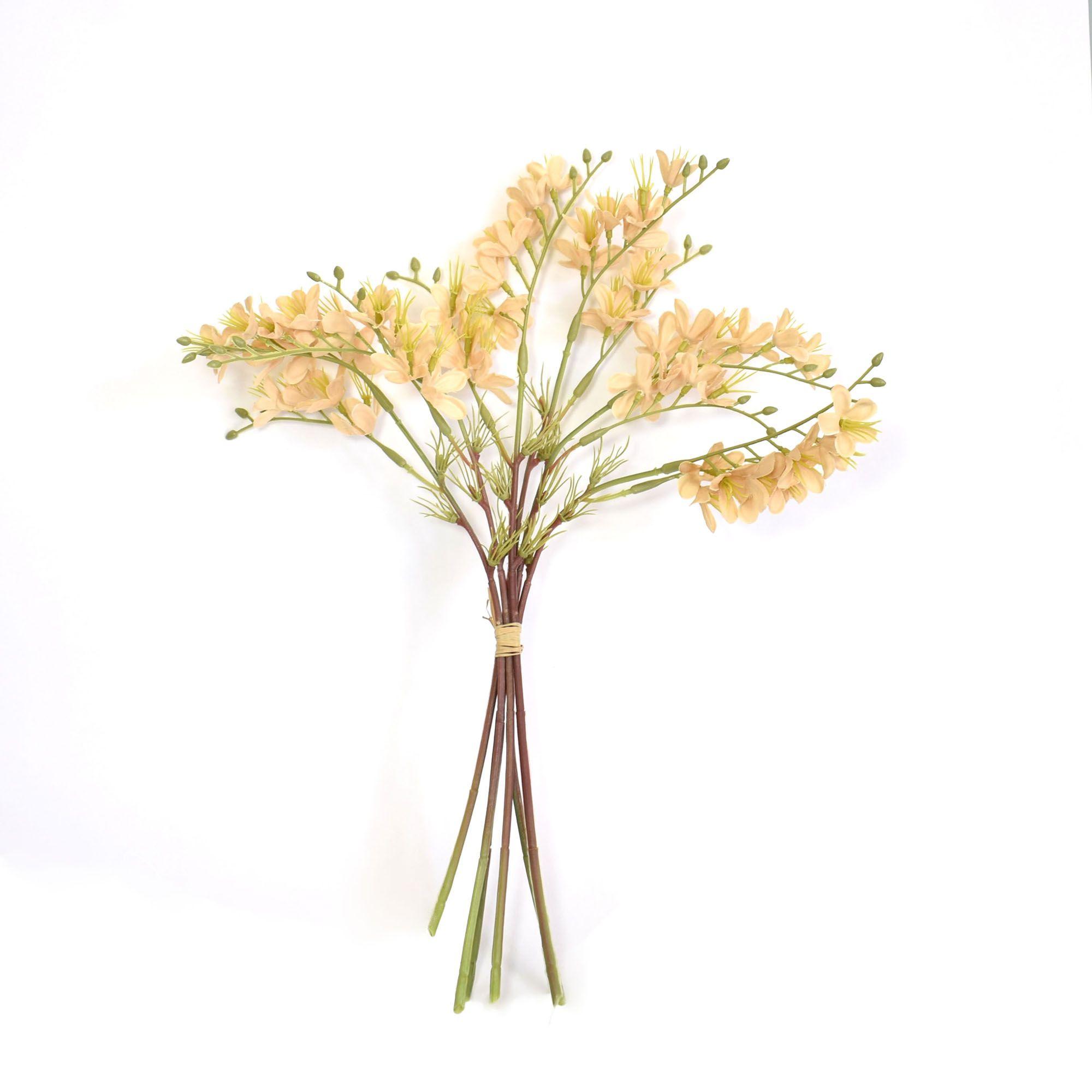 Flores Artificiais - Buquê Flor-do-Campo Envelhecida Nude | Linha permanente Formosinha