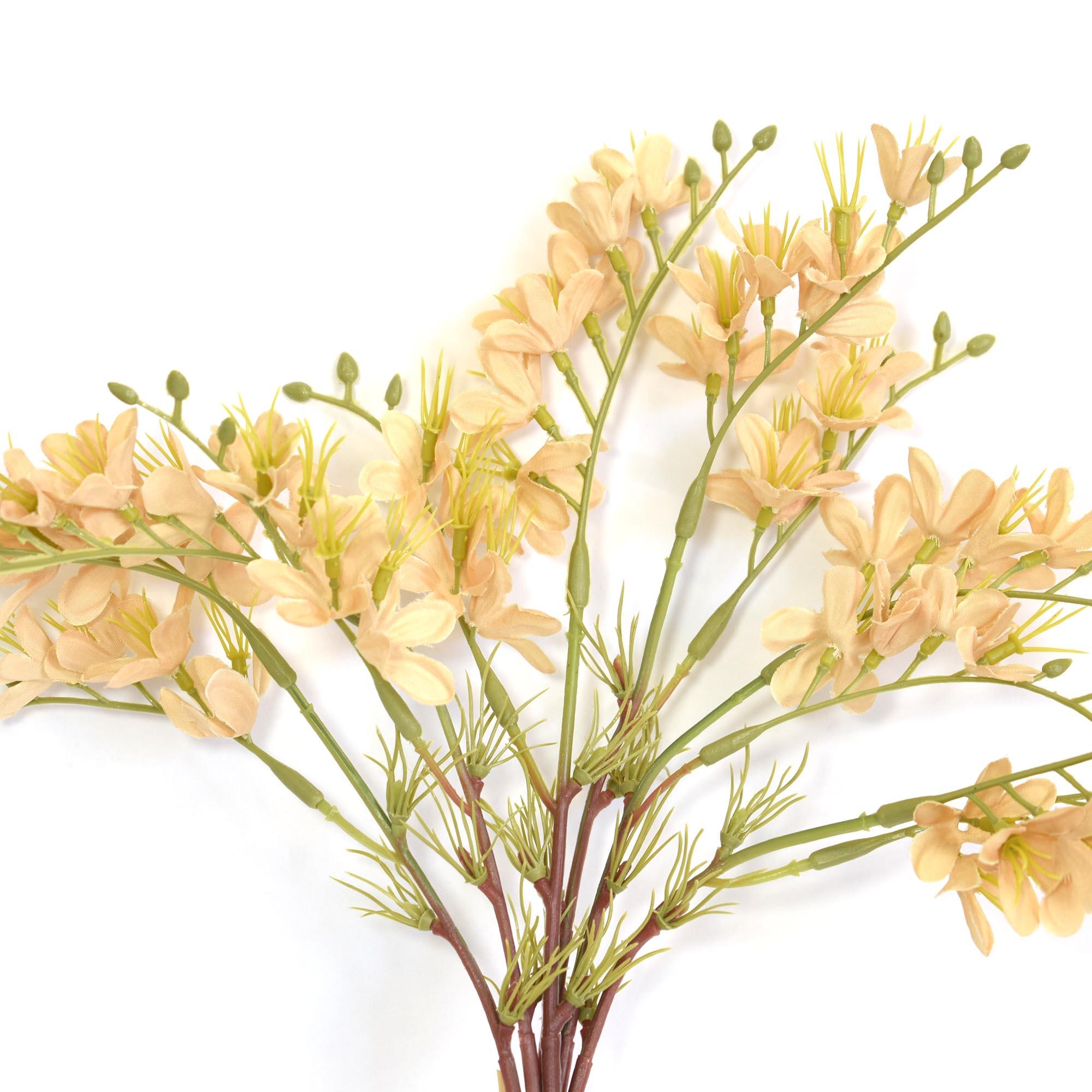 Flores artificiais Buquê Flor-do-Campo Artificial Envelhecida Nude|Linha permanente Formosinha