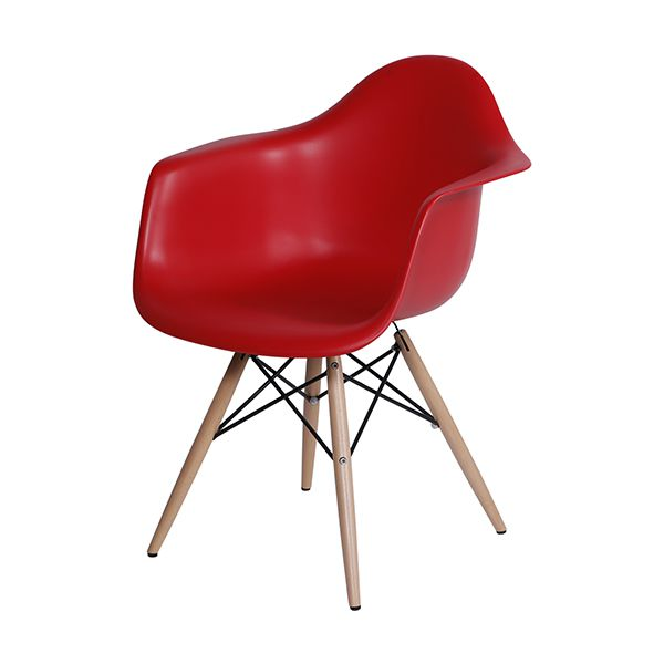 Cadeira Eames com Braço Vermelha