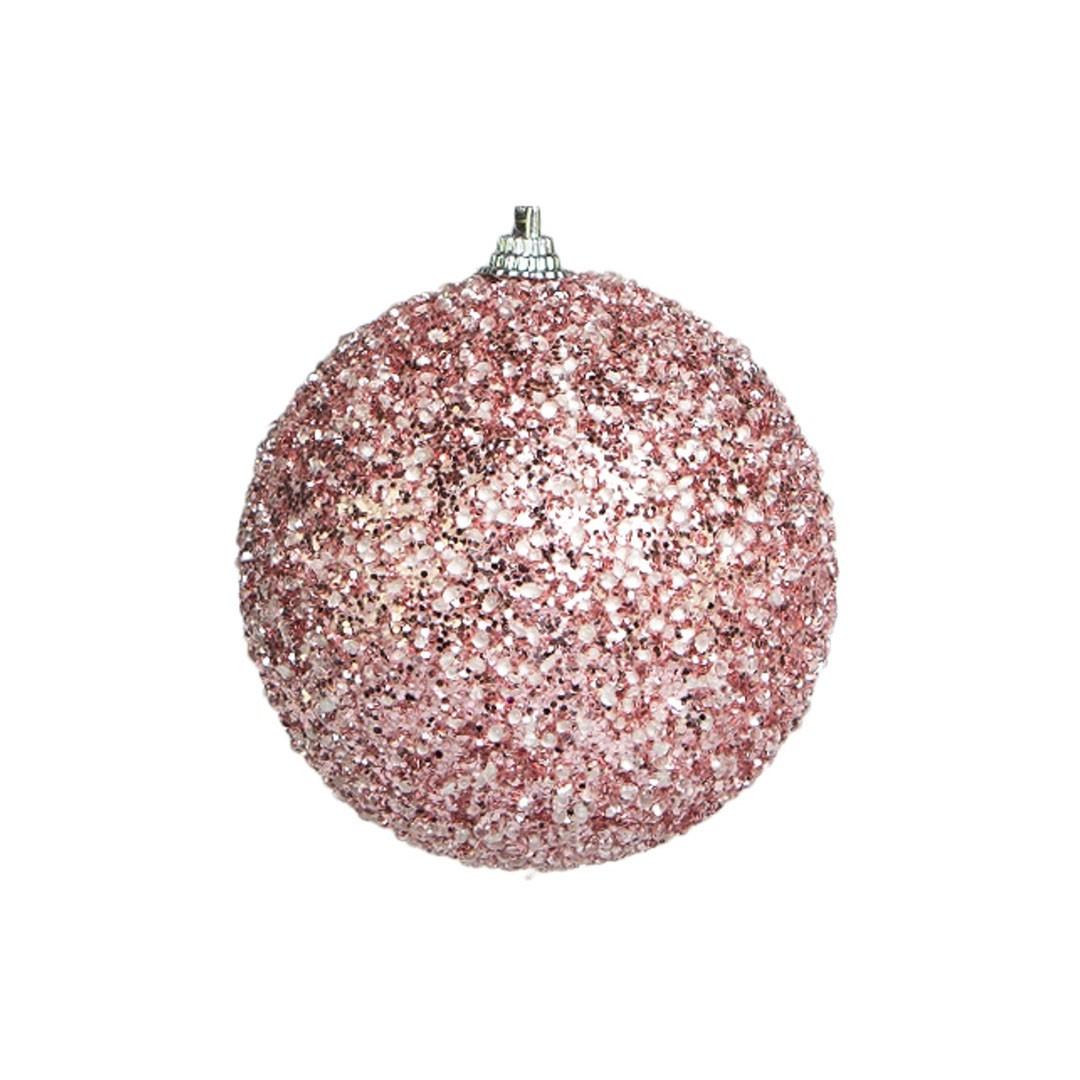 Caixa com 3 bolas de Natal Rosa 8cm | Linha Natal Encantado