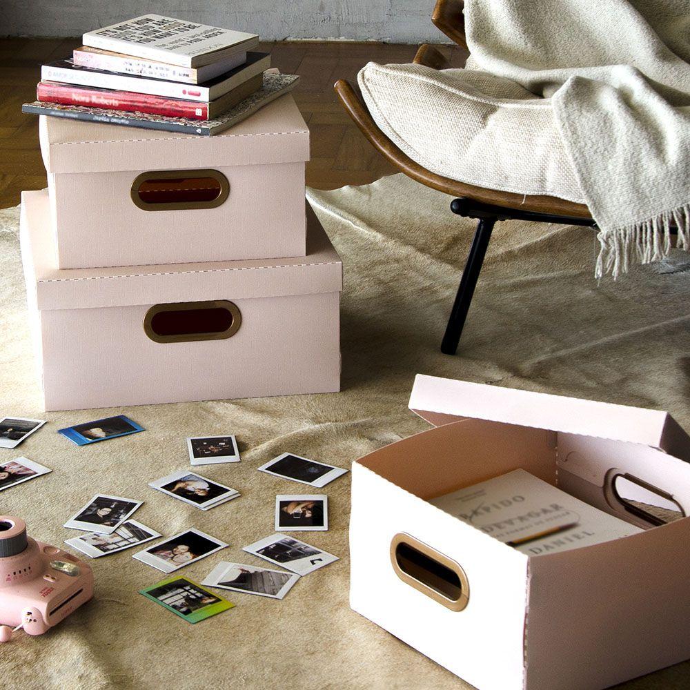 Caixa Organizadora Rosa Claro Média| Linha Organize Formosinha