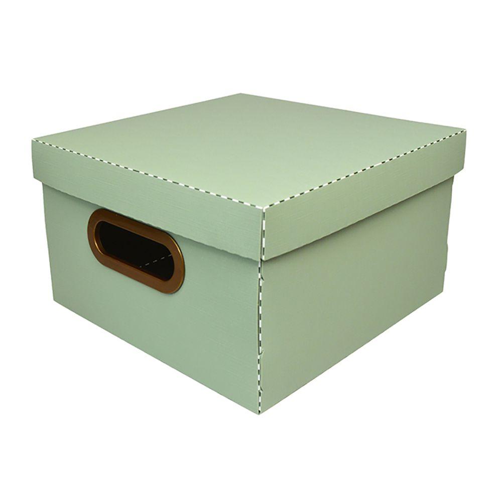 Caixa Organizadora Verde Claro Média| Linha Organize Formosinha