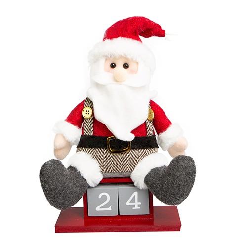 Calendário Papai Noel Vermelho e Cinza