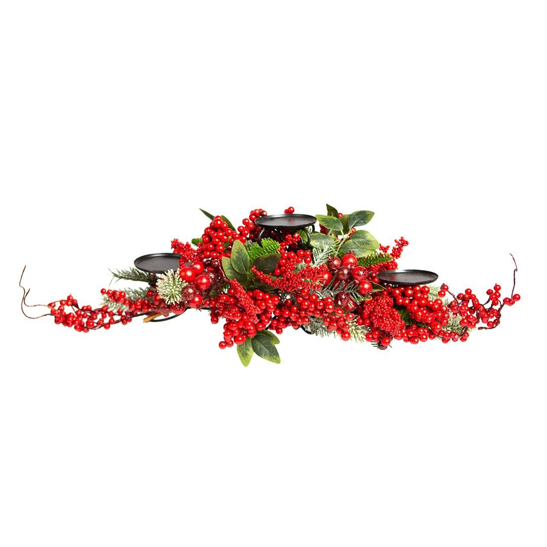 Centro de Mesa e Castiçal Berry | Linha Natal Encantado