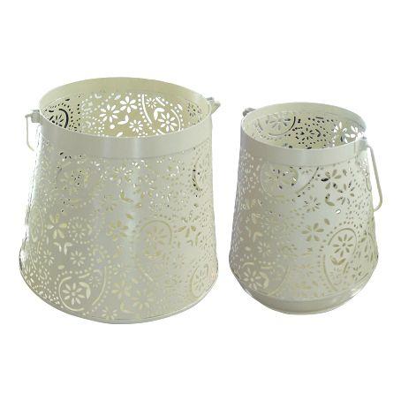 Conjunto de Lanterna Marroquina Branco