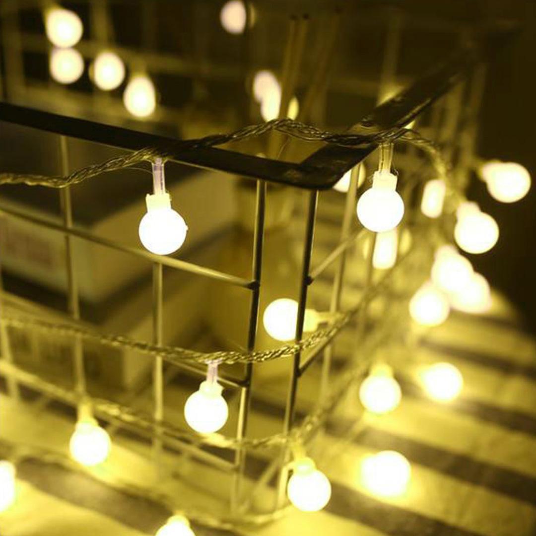 Cordão de Luz LED com 40 Lâmpadas 6m 110V   Formosinha