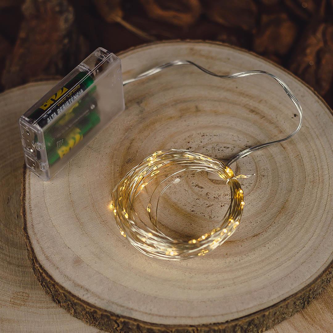 Cordão de Luz LED com 50 Lâmpadas 5m | Formosinha